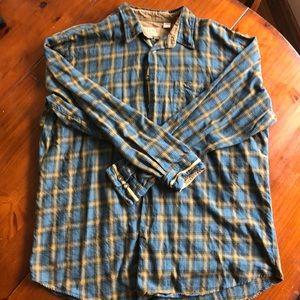 Men's L/S Flannel 100% Cotton Button Up - XL